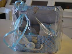 Blauw pamperkoffertje - € 15